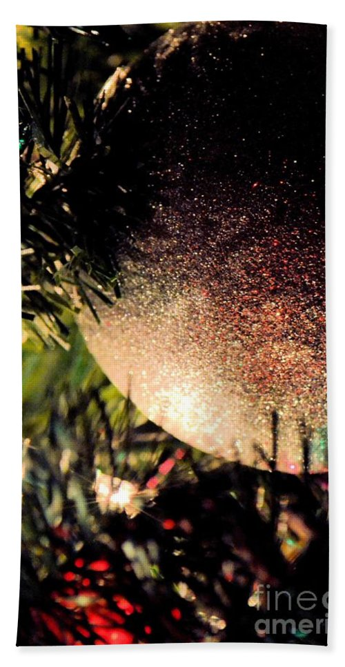 Christmas Glitter Hand Towel featuring the photograph Christmas Glitter by Maria Urso