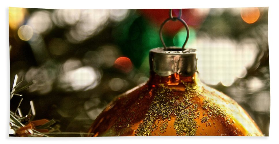Glass Hand Towel featuring the photograph Christmas Gold by Susan Herber