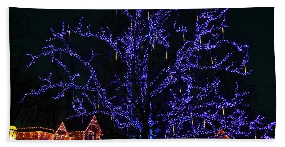 Christmas Lights Hand Towel featuring the photograph Christmas Lights by Elizabeth Winter