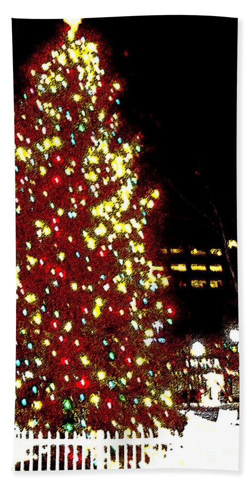 Christmas Hand Towel featuring the photograph Christmas On Public Square Three by Kevin J Cooper Artwork