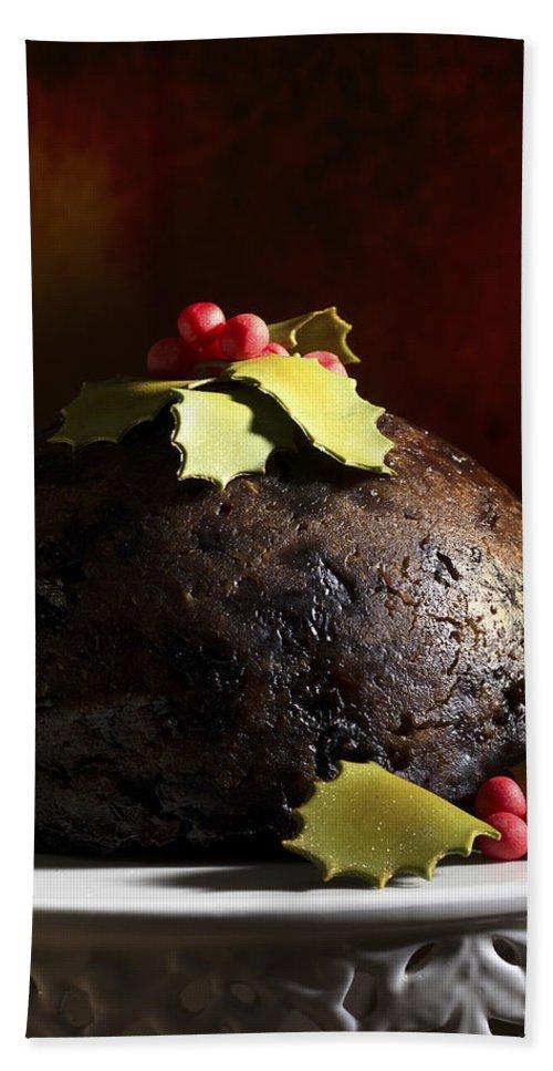 Christmas Bath Sheet featuring the photograph Christmas Pudding by Amanda Elwell