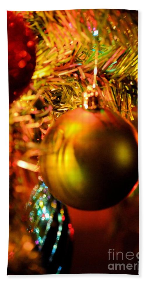 Christmas Time Hand Towel featuring the photograph Christmas Time by Maria Urso