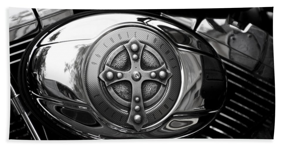 Chrome Bath Sheet featuring the photograph Chrome Cross - 96 Cubic Inches by Bill Cannon