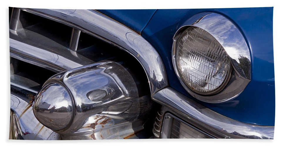Cadillac Bath Sheet featuring the photograph Chrome Inside Chrome On Rust  #4780 by J L Woody Wooden