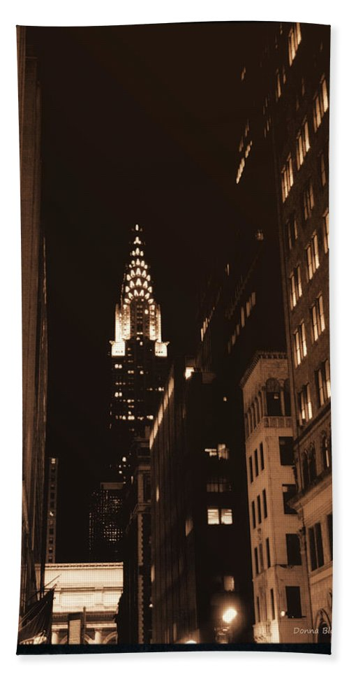 New York Bath Sheet featuring the photograph Chrysler Building by Donna Blackhall