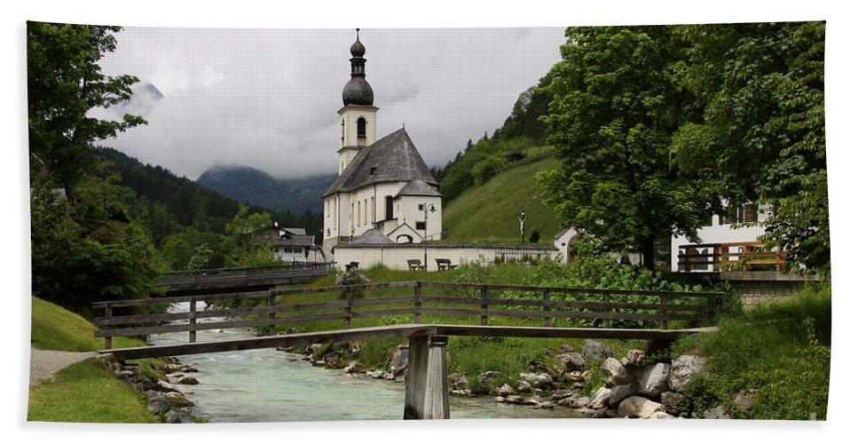 Church Hand Towel featuring the photograph Church - Pfarrkirche St. Sebastian by Christiane Schulze Art And Photography