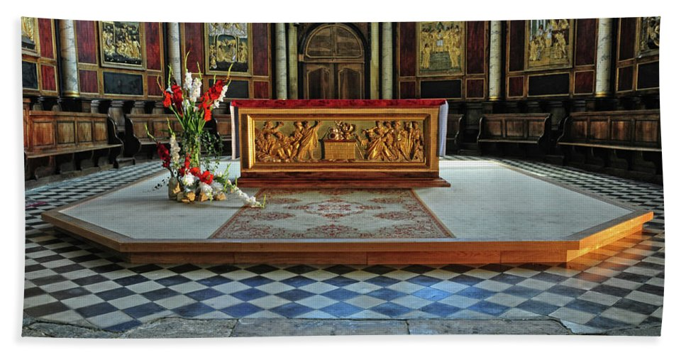 Church Bath Sheet featuring the photograph Church Alter Provence France by Dave Mills