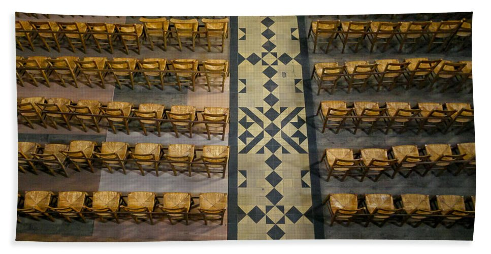 Chairs Bath Sheet featuring the photograph Church Chairs by Jenny Setchell
