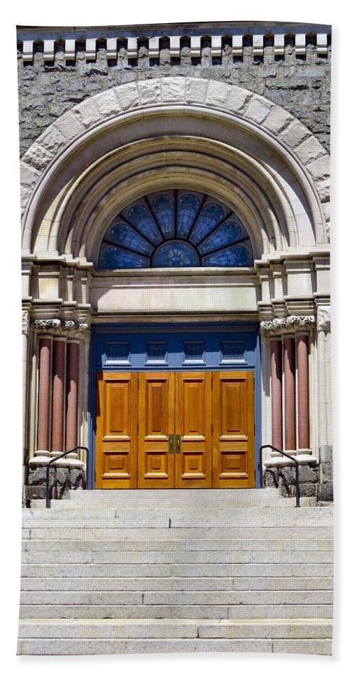 Philadelphia Bath Sheet featuring the photograph Church Doors by Art Dingo
