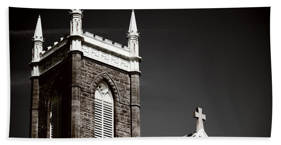 Bath Sheet featuring the photograph Church In Tacoma Washington 5 by Cathy Anderson