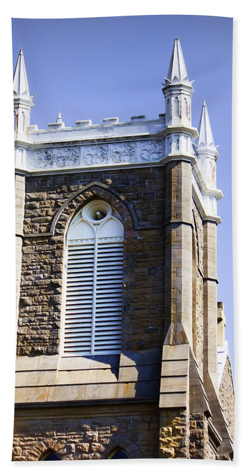 Bath Sheet featuring the photograph Church In Tacoma Washington 6 by Cathy Anderson