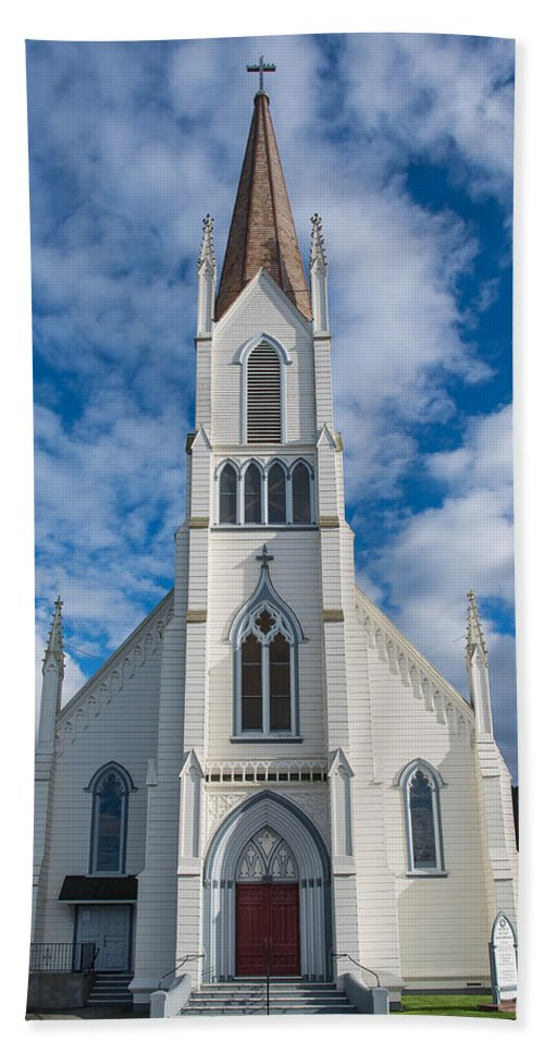 Church Of Assumption Hand Towel featuring the photograph Church Of Assumption by Greg Nyquist