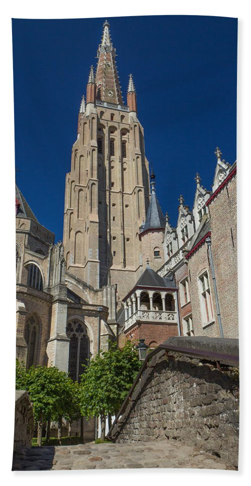 Belgium Bath Sheet featuring the photograph Church Of Our Lady In Bruges by Jaroslav Frank