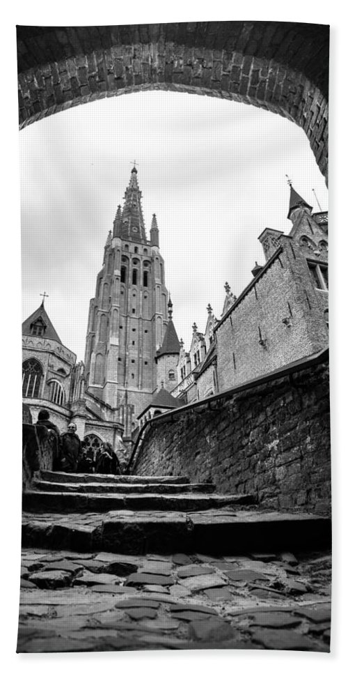 Bruges Belgium 2014 Bath Sheet featuring the photograph Church Of Our Lady by Lauri Novak