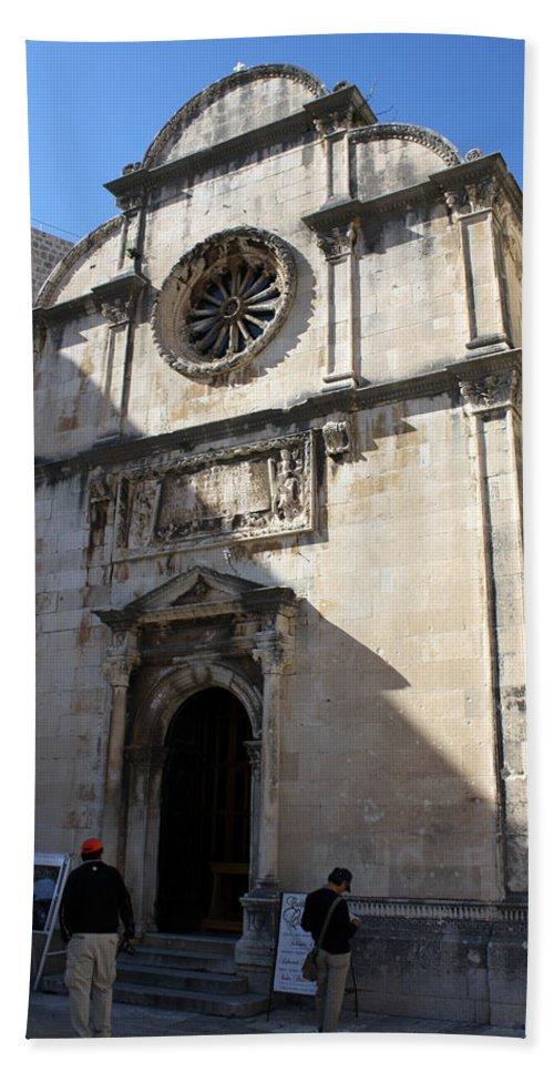 Dubrovnik Bath Sheet featuring the photograph Church Of The Saviour by David Nicholls