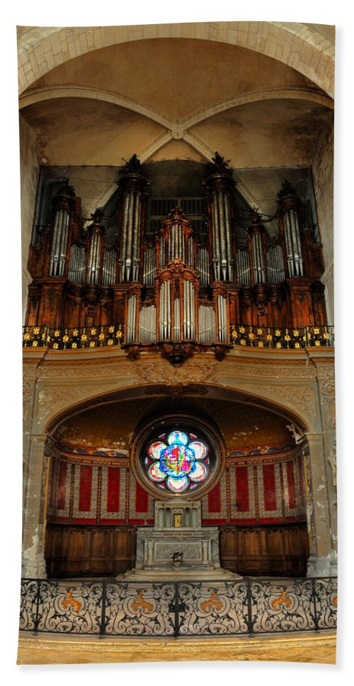 Church Hand Towel featuring the photograph Church Organ by Dave Mills