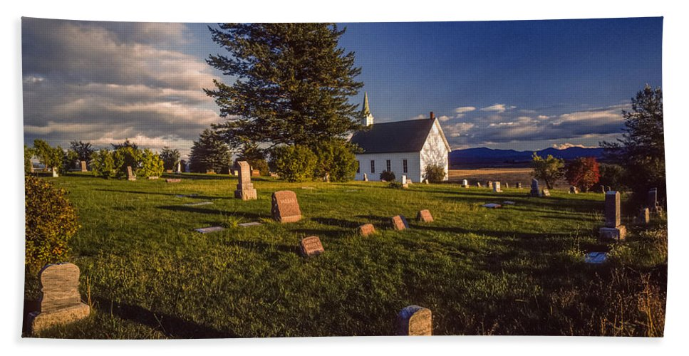 Church Hand Towel featuring the photograph Church Potlatch Idaho 1 by Mike Penney