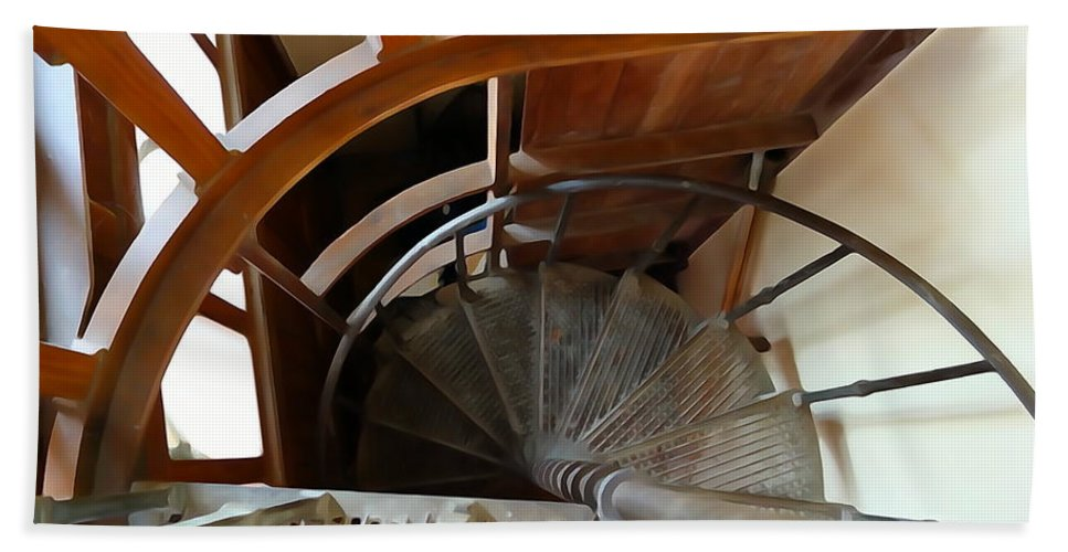 Spiral Hand Towel featuring the photograph Church Stairs by Charlie and Norma Brock