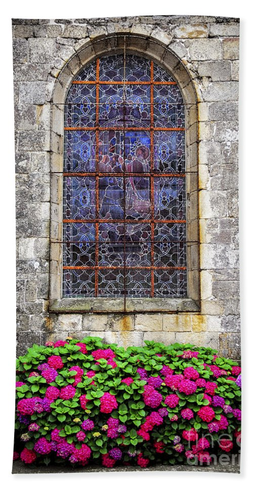 Old Bath Towel featuring the photograph Church Window In Brittany by Elena Elisseeva