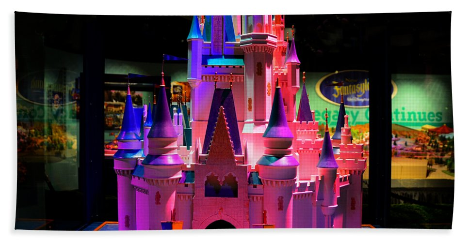 Cinderallas Castle Hand Towel featuring the photograph Cinderellas Castle Number One by David Lee Thompson