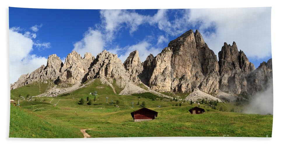 Alpine Hand Towel featuring the photograph Cir Group - Gardena Pass by Antonio Scarpi
