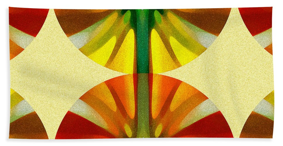 Abstract Bath Towel featuring the painting Circle Pattern 4 by Amy Vangsgard
