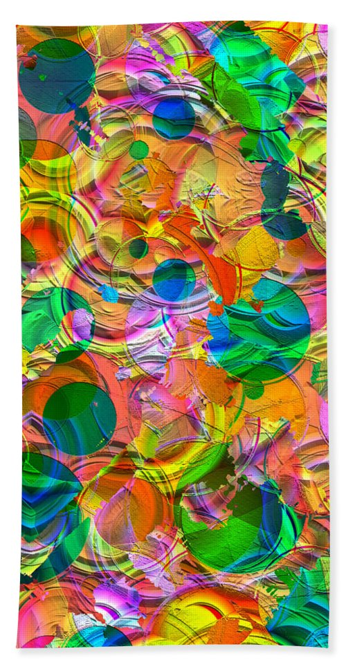 Circles Bath Sheet featuring the digital art Circles by Liane Wright