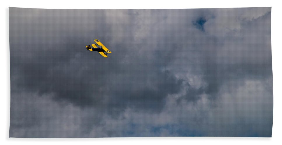 Circling Bath Sheet featuring the photograph Circling For 2nd Flyover by Mick Anderson