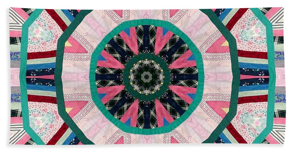 Patchwork Hand Towel featuring the photograph Circular Patchwork Art by Barbara Griffin