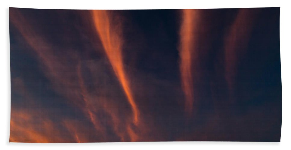 Cirrus Hand Towel featuring the photograph Cirrus by John Daly