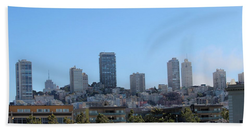 San Francisco Hand Towel featuring the photograph City Of Dreams by Becca Buecher