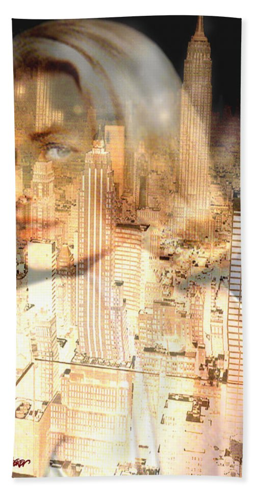 City Of Grace Hand Towel featuring the digital art City of Grace by Seth Weaver
