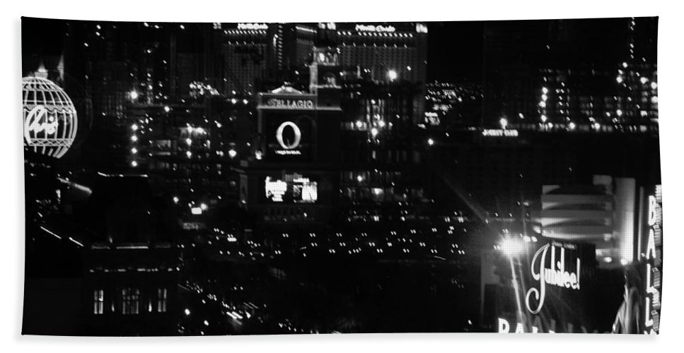 Vegas Hand Towel featuring the photograph City Of Vegas 2008 by Image Takers Photography LLC - Carol Haddon