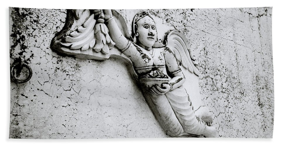 India Bath Sheet featuring the photograph Surreal Angel by Shaun Higson