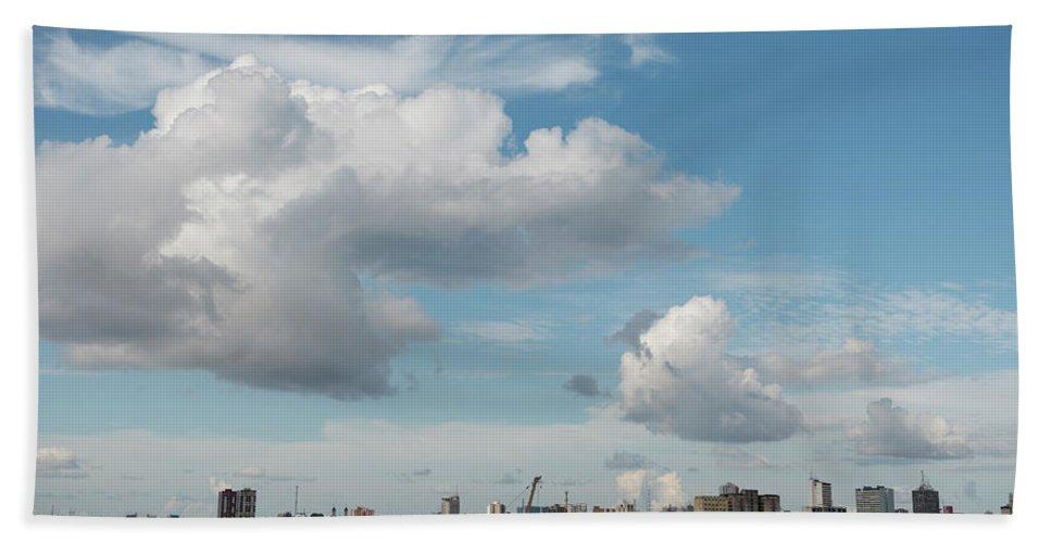 Amazon Region Hand Towel featuring the photograph City Skyline, Manaus, Brazil by Chris Linder