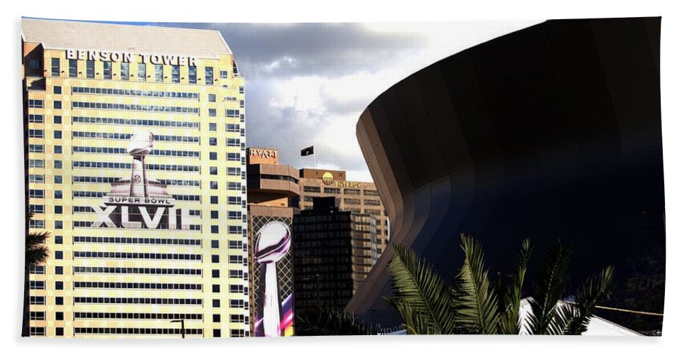 Concept Hand Towel featuring the photograph Cityscape by Anthony Walker Sr