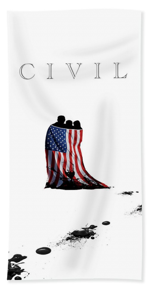 Political Bath Sheet featuring the digital art Civil by Darrell Guffey