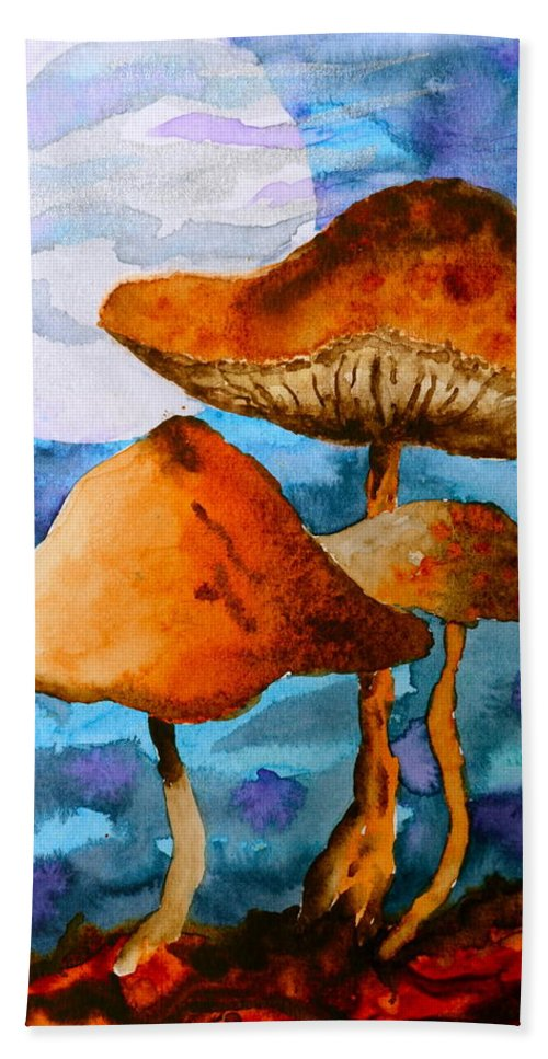 Watercolor Bath Towel featuring the painting Claiming The Moon by Beverley Harper Tinsley