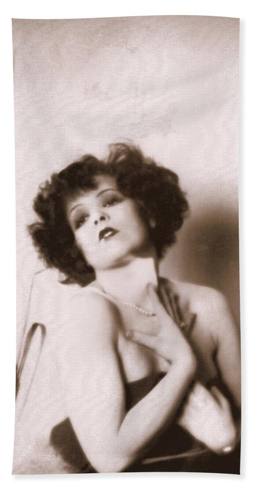 Clara Bow Hand Towel featuring the photograph Clara Bow by Glenn Aker