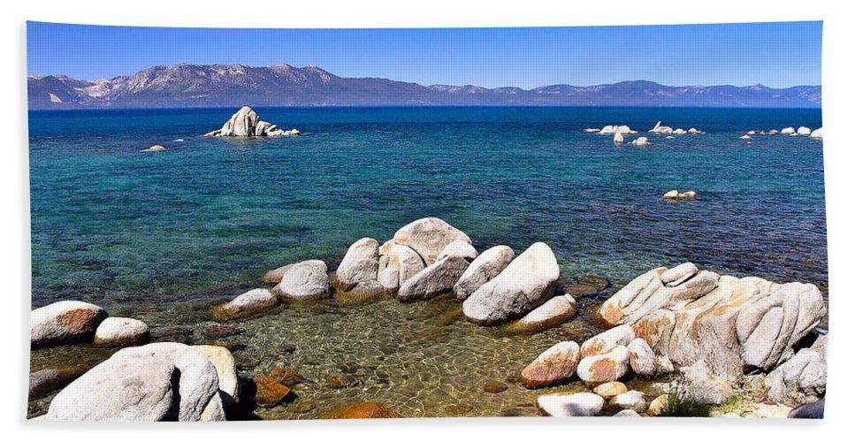 Peaceful Bath Sheet featuring the photograph Clarity - Lake Tahoe by John Waclo