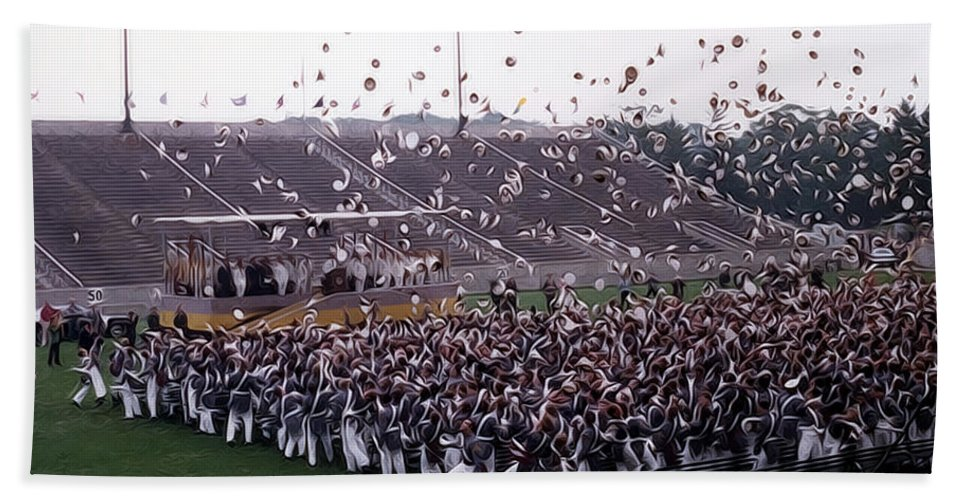 west Point Hand Towel featuring the photograph Class Dismissed by Dan McManus