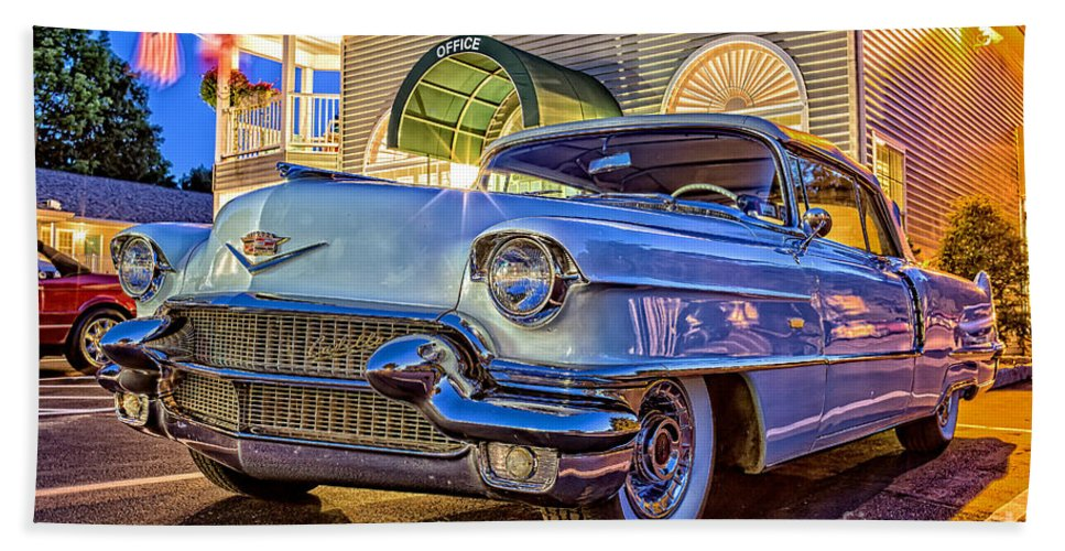 2014 Bath Sheet featuring the photograph Classic Blue Caddy At Night by Edward Fielding