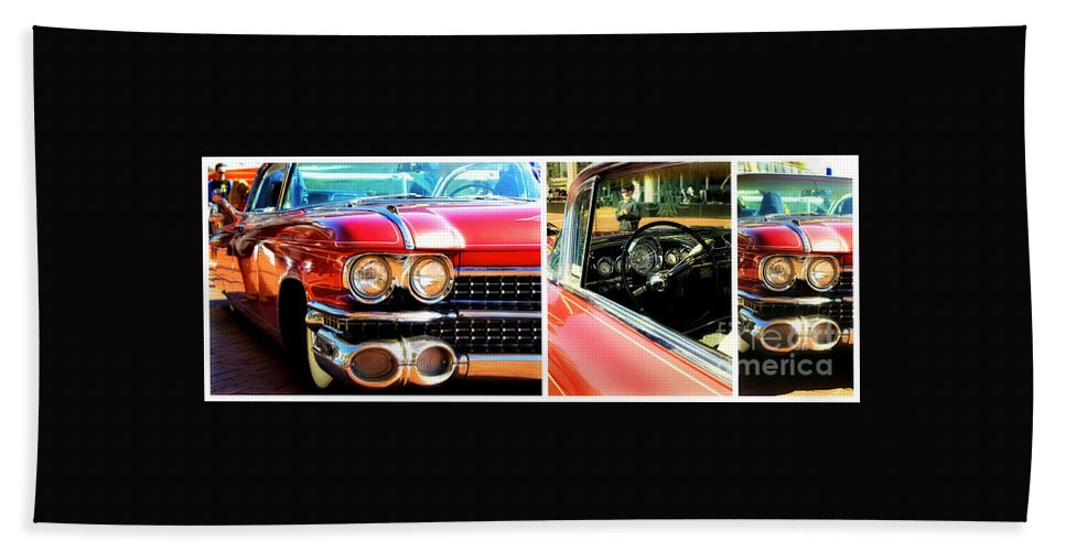 Cadillac Hand Towel featuring the photograph Classic Caddy Inside And Out by Alanna DPhoto