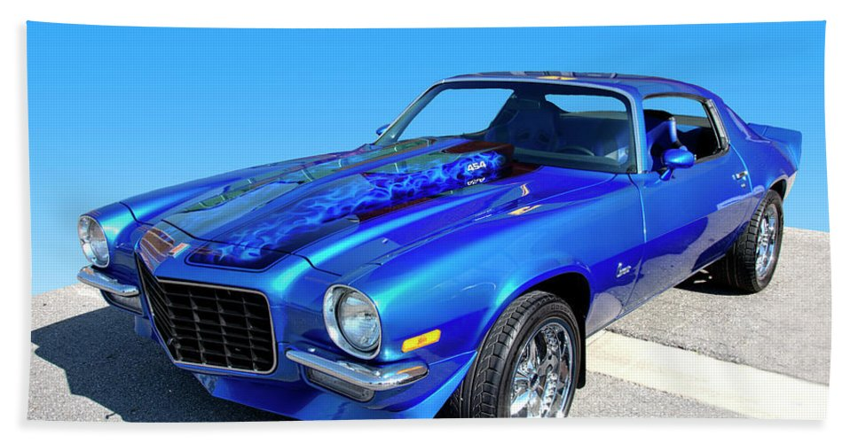 1973 Hand Towel featuring the photograph Classic Car 1973 Camaro 1 by Paul Cannon