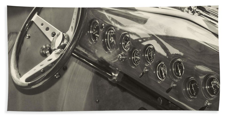 Hand Towel featuring the photograph Classic Car Interior by Cathy Anderson