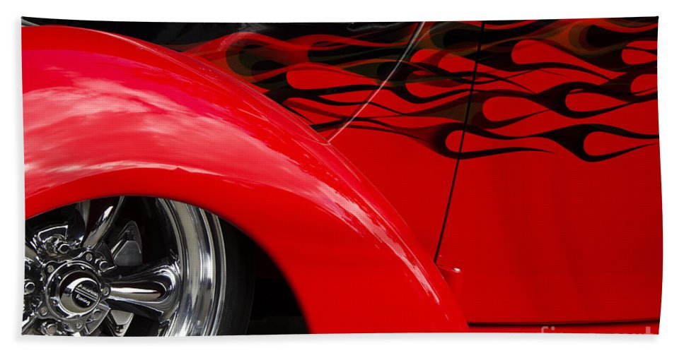 Car Shows Hand Towel featuring the photograph Classic Cars Beauty By Design 11 by Bob Christopher