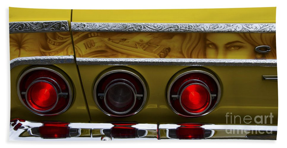 Car Shows Hand Towel featuring the photograph Classic Cars Beauty By Design 14 by Bob Christopher