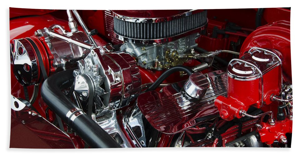 Engine Hand Towel featuring the photograph Classic Cars Beauty By Design 15 by Bob Christopher