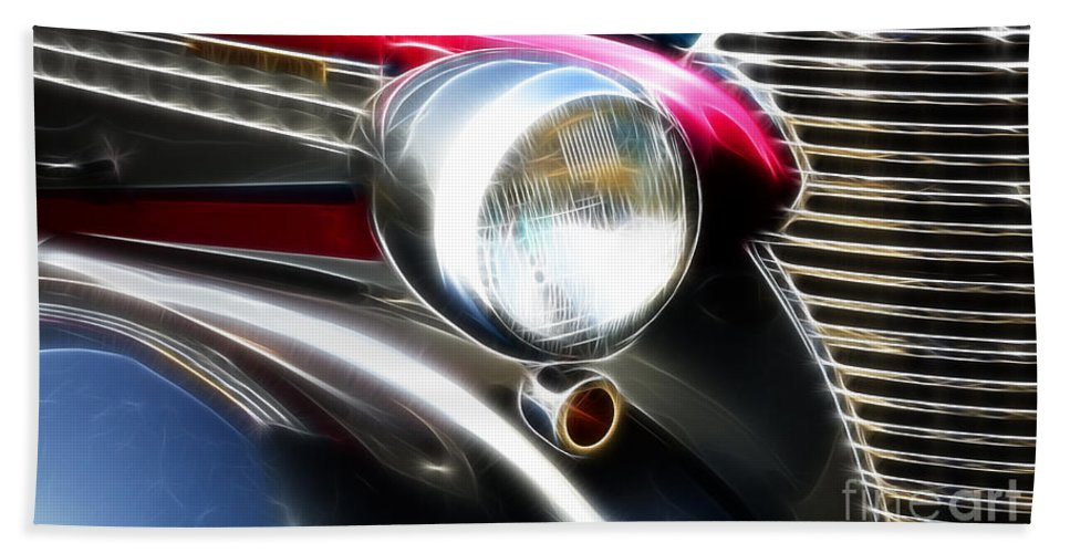 Car Shows Bath Sheet featuring the photograph Classic Cars Beauty By Design 7 by Bob Christopher
