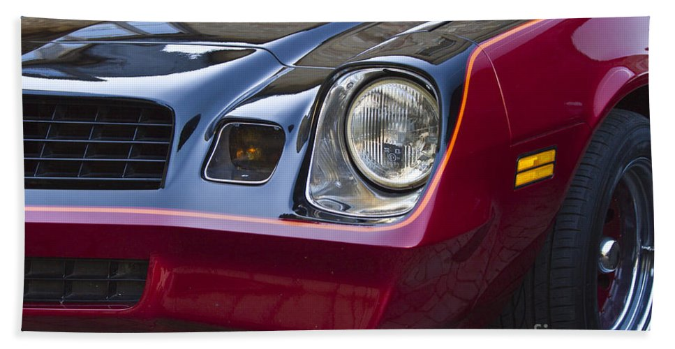 Chevrolet Camaro Bath Sheet featuring the photograph Classic Chevrolet Camaro by Heiko Koehrer-Wagner